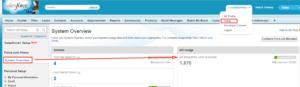 API usage via System Overview