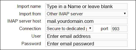 IMAP settings hostmonster