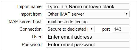 IMAP settings netclusive