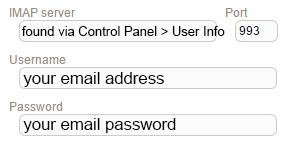 New Sign up IMAP hostgator