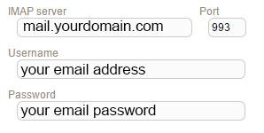 New Sign up IMAP hostmonster