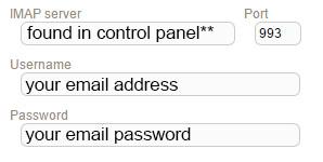 New Sign up IMAP intermedia