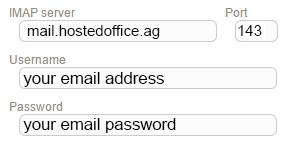 New Sign up IMAP netclusive