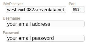 New Sign up IMAP serverdata(fusemail)