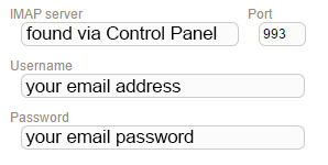 New Sign up IMAP sherweb