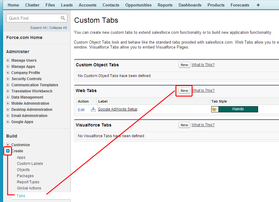 app set up - create - tabs-New copy