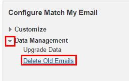 configure data mgmt delete option