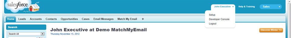 Match My Email Setup Profile
