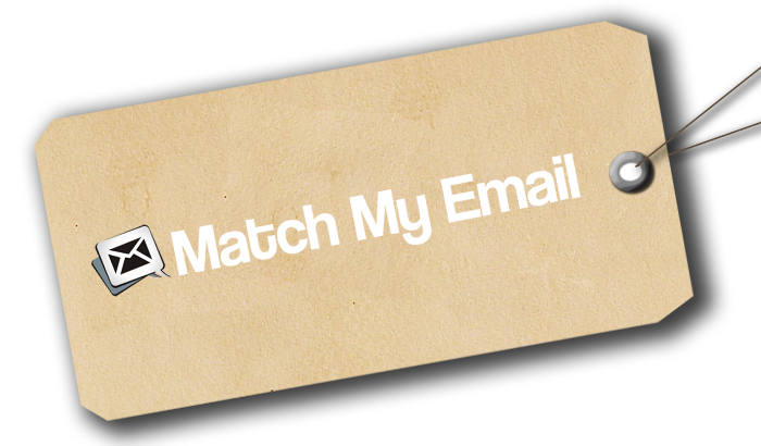 Match My Email Name Tags