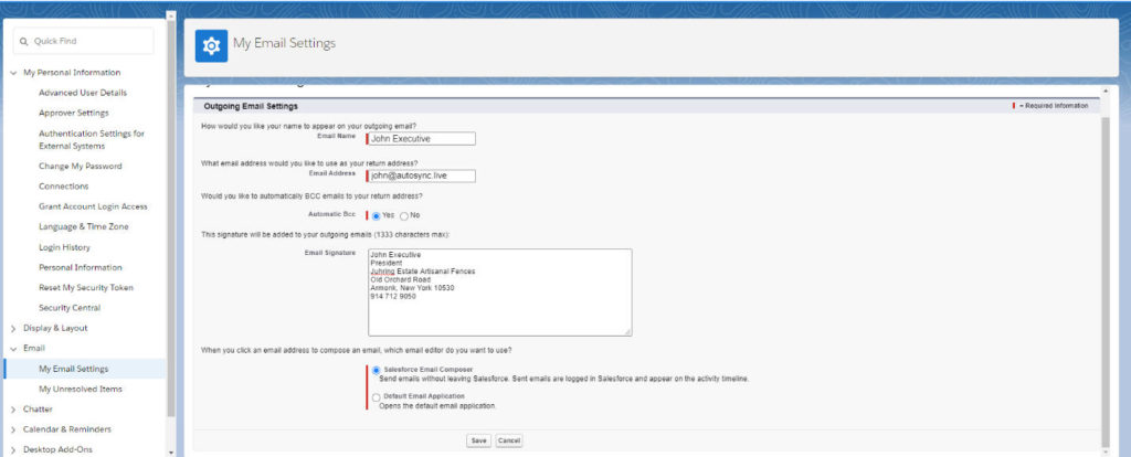 Adding a Salesforce Email Signature